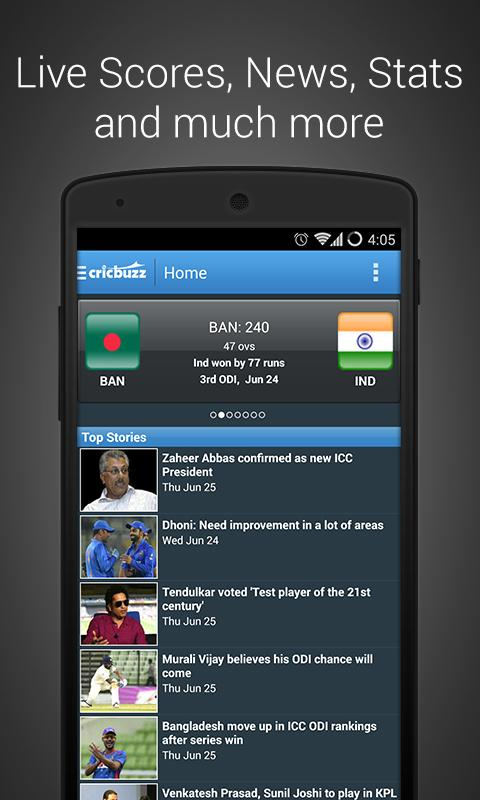 Livescore is a popular website based on update all kind of sports including cricket, basketball, baseball, football, volleyball, and many more. However, the case is different when it comes to CricBuzz website and mobile app. CricBuzz is a website that is based on cricket sports update.