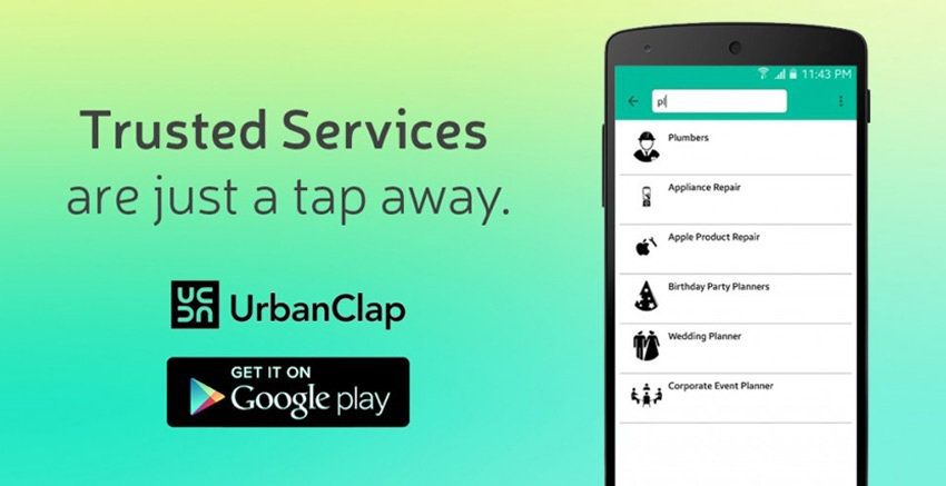 Urban Clap – Providing Professional Services at your Doorsteps