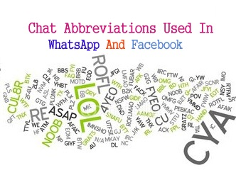 The complete List Of Chat Abbreviations Used in WhatsApp, Facebook Messenger